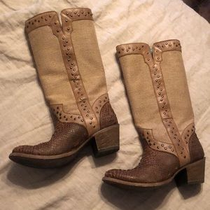 Corral Jute and Python Corral Boots
